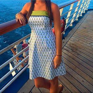 Vineyard Vines Strapless Sailboat Dress